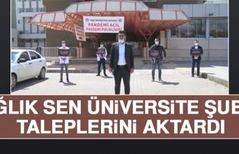 Sağlık Sen Üniversite Şubesi, Taleplerini Aktardı