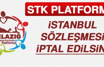 Stk Platformu: İstanbul Sözleşmesi İptal Edilsin