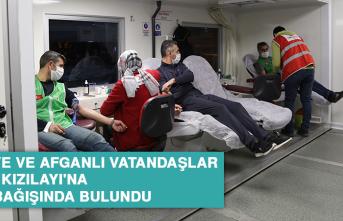 Suriye ve Afganlı Vatandaşlar Türk Kızılayı'na Kan Bağışında Bulundu