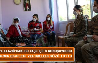 Türkiye Elazığ'daki Bu Yaşlı Çifti Konuşuyordu, Jandarma Ekipleri Verdikleri Sözü Tuttu
