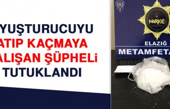 Uyuşturucuyu Atıp Kaçmaya Çalışan Şüpheli Tutuklandı