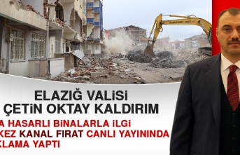 Vali Kaldırım, Orta Hasarlı Binalarla İlgili Açıklama Yaptı!
