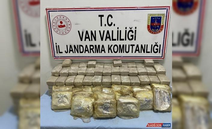 Van'da araziye gömülü 113 kilogram eroin bulundu