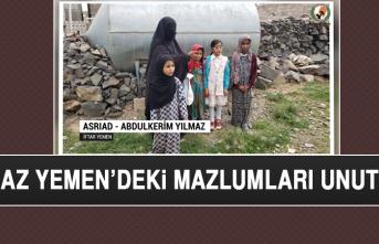 Yılmaz, Yemen'deki Mazlumları Unutmadı