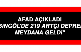 """AFAD: """"Bingöl'de 219 artçı deprem meydana geldi"""""""