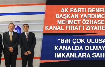 AK Parti Genel Başkan Yardımcısı Mehmet Özhaseki Kanal Fırat'ı Ziyaret Etti