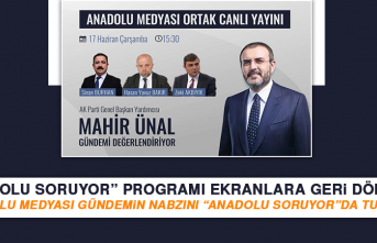 """""""Anadolu Soruyor"""" Programı Ekranlara Geri Dönüyor"""
