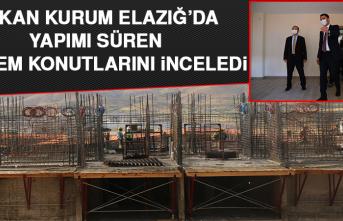Bakan Kurum Elazığ'da, Yapımı Süren Deprem Konutlarını İnceledi