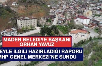 Başkan Yavuz, Hazırladığı Maden Raporunu MHP Genel Merkezi'ne Sundu