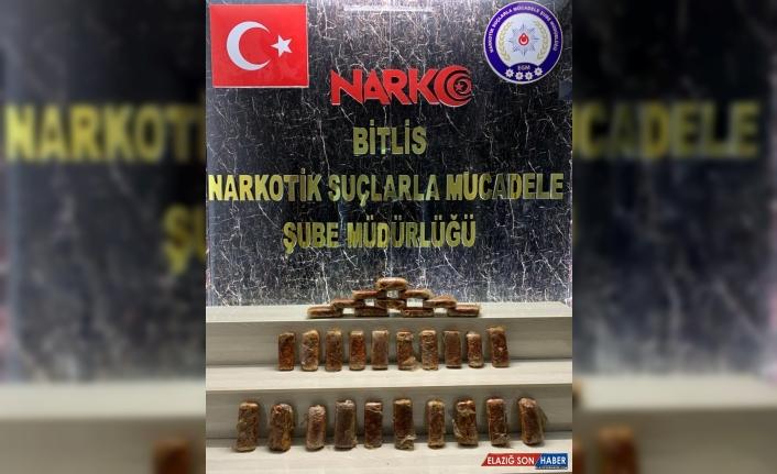 Bitlis'te 18 kilo 900 gram eroin ele geçirildi