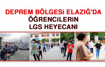 Deprem Bölgesi Elazığ'da Öğrencilerin, LGS Heyecanı