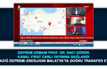 Deprem Uzmanı Prof. Dr. Naci Görür Kanal Fırat Canlı Yayınına Bağlandı