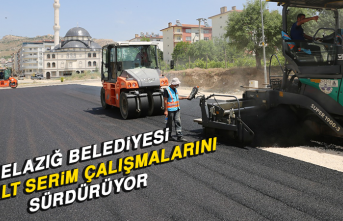 Elazığ Belediyesi, Asfalt Serim Çalışmalarını Sürdürüyor