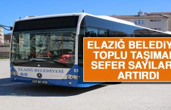 Elazığ Belediyesi Toplu Taşımada Sefer Sayılarını Artırdı