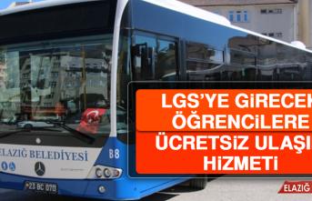 Elazığ Belediyesi'nden LGS'ye Girecek Öğrencilere Ücretsiz Ulaşım Hizmeti