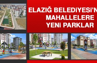 Elazığ Belediyesi'nden Mahallelere Yeni Parklar