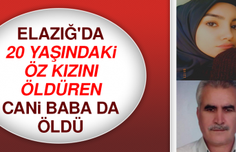 Elazığ'da 20 Yaşındaki Öz Kızını Öldüren Cani Baba da Öldü
