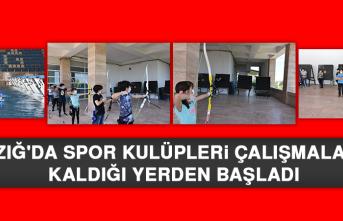 Elazığ'da Spor Kulüpleri Çalışmalarına Kaldığı Yerden Başladı