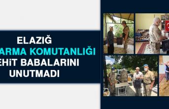 Elazığ Jandarma Komutanlığı Şehit Babalarını Unutmadı