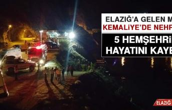 Elazığ'a Gelen Minibüs Kemaliye'de Nehre Uçtu, 5 Hemşehrimiz Öldü