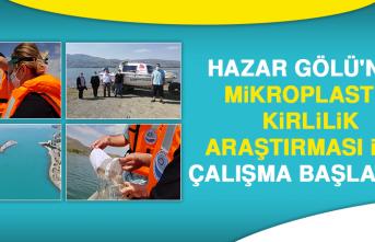 Hazar Gölü'nde Mikroplastik Kirlilik Araştırması İçin Çalışma Başlatıldı