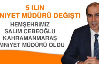 Hemşehrimiz Salim Cebeoğlu Kahramanmaraş Emniyet Müdürü Oldu