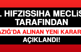 İl Hıfzıssıha Meclisi Tarafından Elazığ'da Alınan Yeni Kararlar Açıklandı!