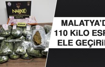 Malatya'da Otomobilin Bagajında 110 Kilo Esrar Ele Geçirildi