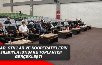 Odalar, STK'lar ve Kooperatiflerin Katılımıyla İstişare Toplantısı Gerçekleşti