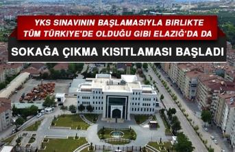 Tüm Türkiye'de Olduğu Gibi Elazığ'da da Sokağa Çıkma Kısıtlaması Başladı