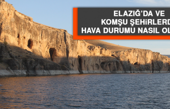 10 Temmuz'da Elazığ'da Hava Durumu Nasıl Olacak?