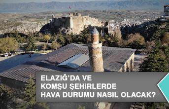 26 Temmuz'da Elazığ'da Hava Durumu Nasıl Olacak?