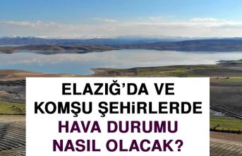29 Temmuz'da Elazığ'da Hava Durumu Nasıl Olacak?