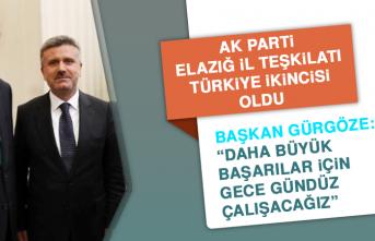 AK Parti Elazığ İl Teşkilatı Türkiye İkincisi Oldu