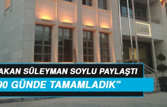 Bakan Soylu, Sivrice İlçe Emniyet Müdürlüğü'nü Paylaştı