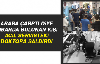 Elazığ'da Araba Çarptı Diye İhbarda Bulunan Kişi Acil Servisteki Doktora Saldırdı