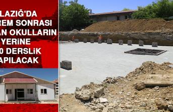 Elazığ'da Deprem Sonrası Yıkılan Okulların Yerine 500 Derslik Yapılacak