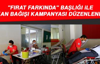 """Elazığ'da """"Fırat Farkında"""" Adıyla Kan Bağışı Kampanyası Düzenlendi"""