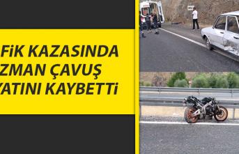 Elazığ'da Trafik Kazasında, Uzman Çavuş Hayatını Kaybetti