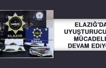 Elazığ'da Uyuşturucu İle Mücadele Devam Ediyor
