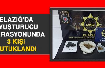 Elazığ'da Uyuşturucu Operasyonunda 3 Kişi Tutuklandı
