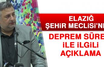 Elazığ Şehir Meclisi'nden Deprem Süreci İle İlgili Açıklama