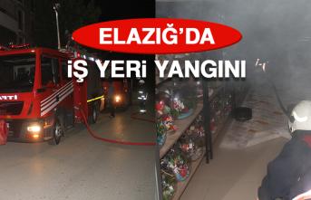 Elazığ'da İş Yeri Yangını