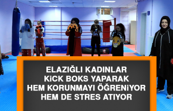 Elazığlı Kadınlar Kick Boks Yaparak Hem Korunmayı Öğreniyor Hem De Stres Atıyor