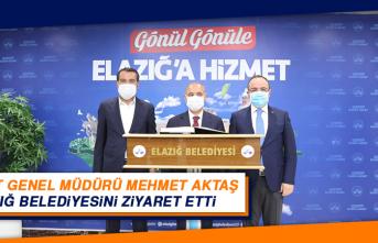 Emniyet Genel Müdürü Mehmet Aktaş Elazığ Belediyesini Ziyaret Etti