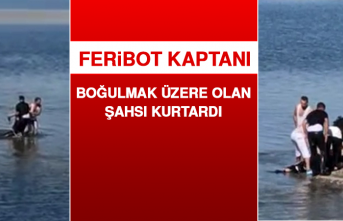 Feribot Kaptanı, Boğulmak Üzere Olan Şahsı Kurtardı