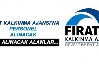 FIRAT KALKINMA AJANSI'NA PERSONEL ALINACAK