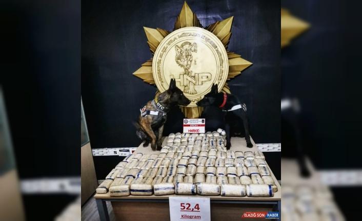 Hakkari'de 52 kilo 400 gram eroin ele geçirildi