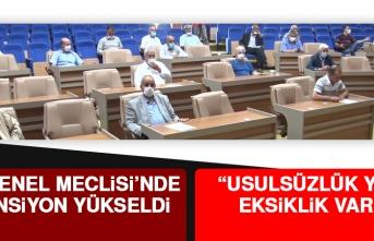 İl Genel Meclisi'nde Tansiyon Yükseldi
