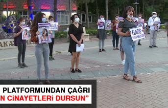 """Kadın Platformundan Çağrı: """"Kadın cinayetleri dursun"""""""